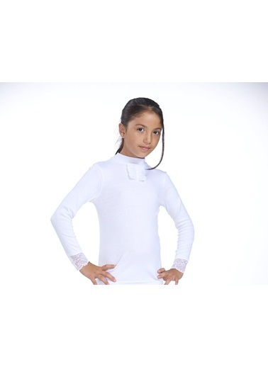 2'Li Ribana Dantelli Kız Çocuk T-Shirt Zeyzey
